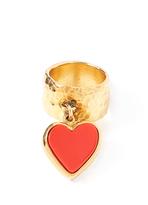 Edie Parker Single Heart Ring