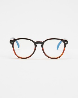 Le Specs Brown Blue Light Lenses - Bandwagon Blue Light Glasses - Size One Size at The Iconic