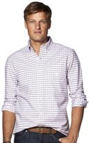 Chaps Men's Classic-Fit Stretch Oxford Tattersall Button-Down Shirt
