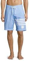 Thom Browne 4-Bar Striped Board Shorts