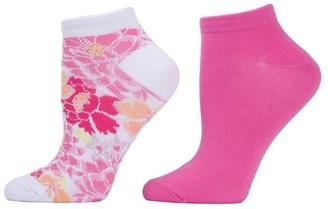 Natori Bold Floral Socks - 2 Pair Pack