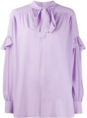 Twin-Set Ruffle Trim Pussybow Blouse