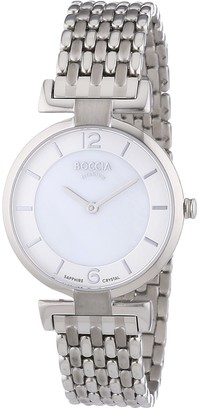 Boccia Women's Quartz Watch with Mother of Pearl Dial Analogue Display and Silver Titanium Bracelet B3238-03