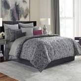 Manor Hill Cortlandt Full Comforter Set in Grey