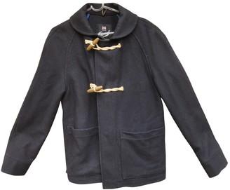 Gloverall Navy Wool Coat for Women