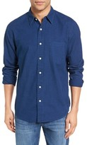 Faherty Men's Ventura Trim Fit Indigo Dot Sport Shirt
