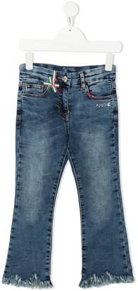 MonnaLisa Mid-Rise Rhinestone-Detail Jeans