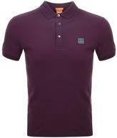 BOSS ORANGE Pavlik Polo T Shirt Burgundy