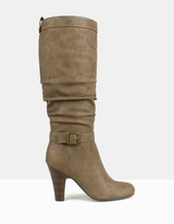 betts Impressive Ruched Knee-High Boots
