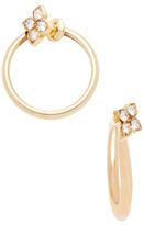 Cartier Vintage 18K Yellow Gold & Diamond Hindu Earrings