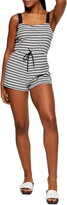 Topshop Stripe Square Neck Sleeveless Cover-Up Romper