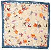 DSQUARED2 Silk Printed Scarf