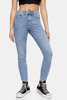 Topshop Womens Petite Bleach Pocket Jamie Skinny Jeans - Bleach Stone