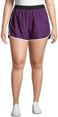 Just My Size Women's Plus Size Active Run Shorts