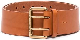 Ralph Lauren Collection Double Prong Leather Belt