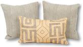 Kim Salmela Set of 3 Lauren Pillow Bundle - Gray/Sand