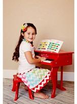 Schoenhut Fancy Baby Grand Piano - White/Red