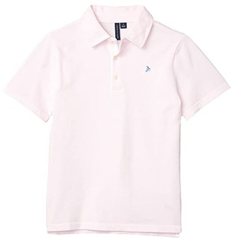 Janie and Jack Pique Polo (Toddler/Little Kids/Big Kids) (Pink) Boy's Clothing