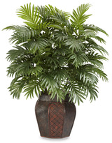 Bed Bath & Beyond Nearly Natural Areca Palm with Vase Silk Plant