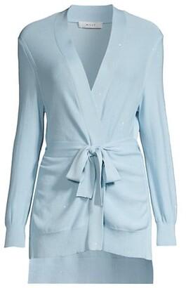Sequin Tie Front Cardigan