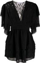 IRO deep V-neck lace dress