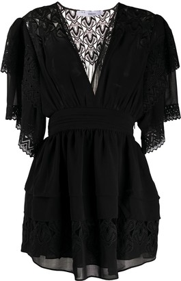 IRO deep V-neck lace dress
