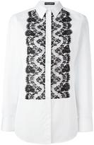 Dolce & Gabbana lace bib shirt - women - Cotton/Polyamide/Viscose - 44