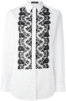 Dolce & Gabbana lace bib shirt