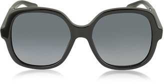Marc Jacobs MJ 589/S 807HD Rounded Square Black Oversized Acetate Women's Sunglasses