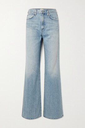 Citizens of Humanity - + Net Sustain Rosanna Organic High-rise Wide-leg Jeans - Blue