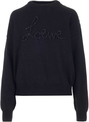 Loewe Embroidered Logo Knitted Sweater