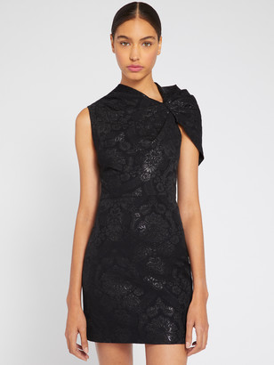 Alice + Olivia Kiro Shimmer Ruffle Mini Dress