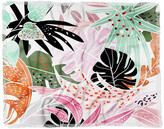 Deny Designs 83 Oranges Tropical Palm Leaves Woven Throw