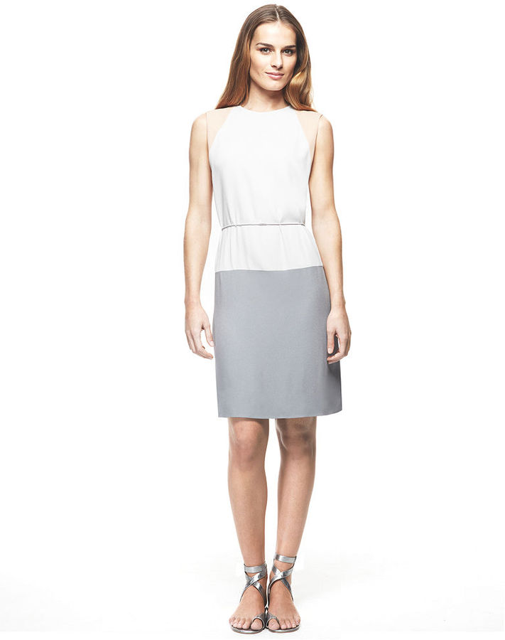 Calvin Klein Francisco Costa for Dress, Sleeveless Viscose Crepe Belted
