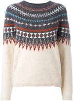 Closed intarsia jumper