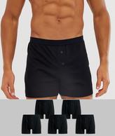 Asos Design ASOS DESIGN 5 pack jersey boxers black save