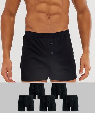 Asos Design DESIGN 5 pack jersey boxers black save