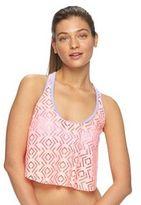 Juniors' SO® Crochet Flounce Bikini Top