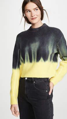 Proenza Schouler White Label Dip Dye Crew Neck Sweater