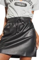 Topshop Women's Drawstring Faux Leather Skirt