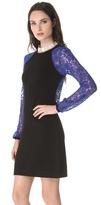 Diane von Furstenberg Isla Lace Sweater Dress