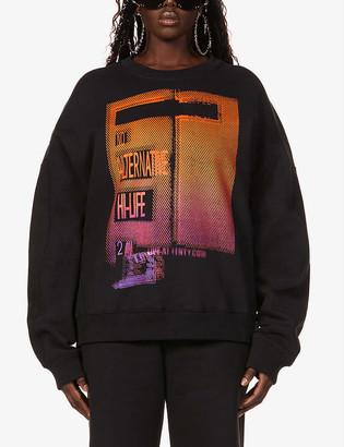 Fenty by Rihanna Graphic-print cotton-jersey sweatshirt
