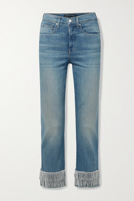 Veronica Beard Ryleigh Crystal-embellished Skinny Jeans - Mid denim