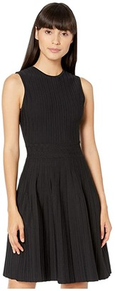 Ted Baker Stitch Detail Knitted Sleeveless Dress (Black) Women's Dress
