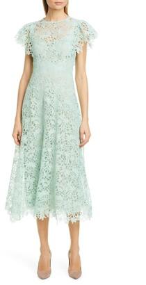 Lela Rose Wildflower Guipure Lace Dress