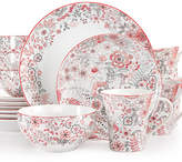 222 Fifth 16-Pc. Evangeline Red Dinnerware Set