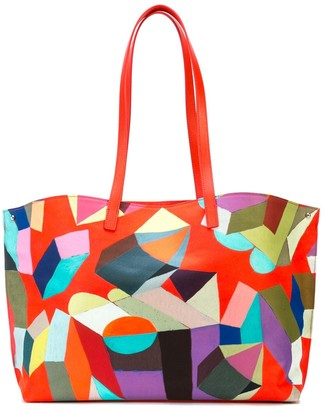 Akris Ai convertible printed tote