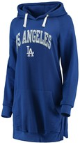 Unbranded Women's Soft as a Grape Royal Los Angeles Dodgers Oversized French Terry Pullover Hoodie