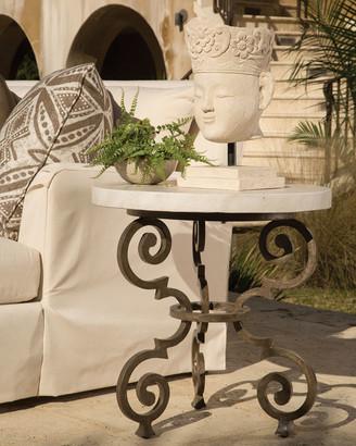 Lane Venture Hemingway Outdoor Florentine Round End Table