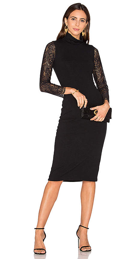 Alice + Olivia Kala Lace Midi Dress in Black. - size XS (also in )